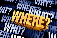 Stock Illustration of The Important Question Is 'Where?'