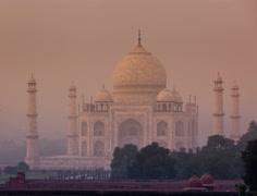 Taj Mahal timelapse Stock Footage