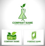 Genetically Modified Plants Logo - stock illustration
