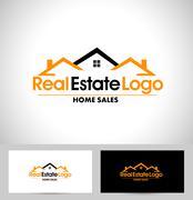 Real Estate Logo - stock illustration
