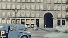 Madrid 1965: Plaza Mayor Stock Footage