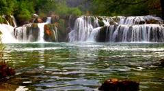 Krka waterfall Stock Footage