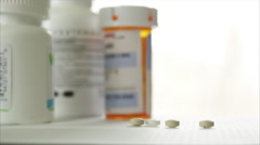 Pan of Meds in 4K (2 of 5) - stock footage