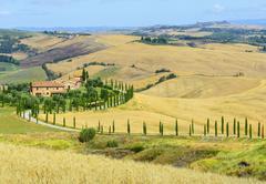 Crete Senesi (Tuscany, Italy) Stock Photos