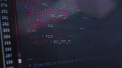 Scrolling Code on a Screen - stock footage