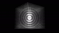 Matrix Cube made of dots - stock footage