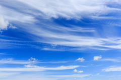 nice summer sky with clouds - stock photo