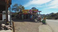 Gift Shop On Main Street In Oatman Arizona - stock footage