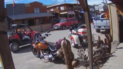 Jeep And All Terrain Vehicle On Street In Oatman Arizona Stock Footage