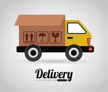 Stock Illustration of delivery icon design, vector illustration eps10 graphic