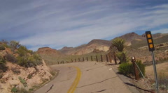 Motorcyclist View Of Curving Route 66- Oatman Arizona Stock Footage