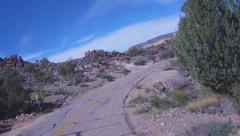 Motorcyle View- Black Mountains Route 66- Oatman Arizona Stock Footage