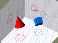 Descriptive geometry 3D projection seamless loop video, 640x480 Stock Footage