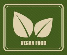 vegan food design, vector illustration eps10 graphic - stock illustration