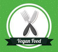 Stock Illustration of vegan food design, vector illustration eps10 graphic