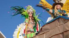 Brazilian Carnaval, Rio de Janeiro style parade - stock footage