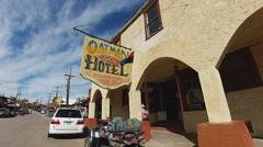 The Historic Oatman Hotel- Oatman Arizona Stock Footage