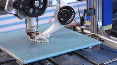 3d printing processing with modern filament printer - stock footage