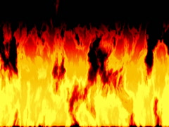 Burning fire generated seamless loop video, 640x480 - stock footage