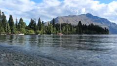 Lake Wakatipu Queenstown Stock Footage