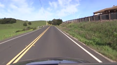 Driving Slow motion, California, scenic roadside Stock Footage