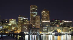 Boston Harbor Walk Time Lapse Stock Footage