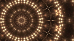 Gold abstract loop motion background, kaleidoscope light Stock Footage