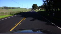 Driving backroads, California, open country - stock footage