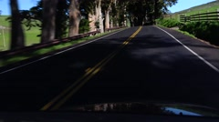 Driving backroads, California, shady and sunny Stock Footage