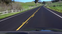 Driving backroads, California, pov Stock Footage
