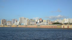 Porto alegre, brazil  city view from the river Stock Footage