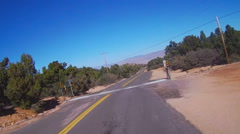 Motorcycle POV Riding Curving Arizona Road- Fast Motion Stock Footage