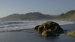 View of Maroon beach at Redwood national park Stock Footage