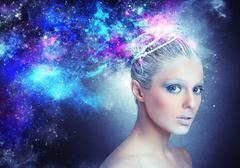 Lady universe - stock photo