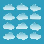 Set of vector clouds Stock Illustration