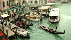 The Canal Grande as seen from the Rialto Bridge in Venice, Italy Stock Footage