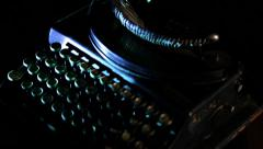 Old typewriter jib up with projector - stock footage