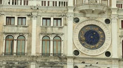 The astronomical Clock of Venice - stock footage
