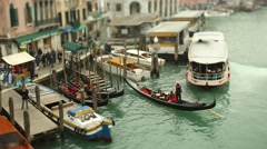 A gondolier on the Canal Grande - stock footage