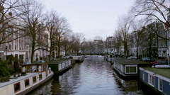 Amsterdam - 042 Brouwersgracht B1 52s Stock Footage