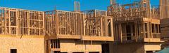 New Condominium or apartment construction - stock photo
