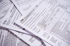 United States Tax forms Stock Photos