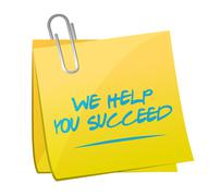We help you succeed memo illustration Stock Illustration