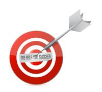 Stock Illustration of we help you succeed target sign