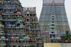 Meenakshi Amman Temple, Madurai Stock Photos