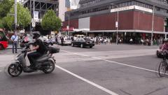 Crowd Intersection Timelapse Stock Footage