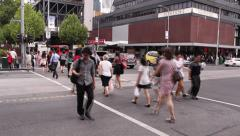 Timelapse crowd busy street - stock footage