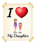 Stock Illustration of Daughter