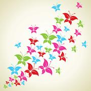Illustration of colorful butterfly background Stock Illustration