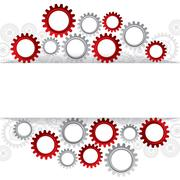 illustration of abstract web design with copy space in cog wheel - stock illustration